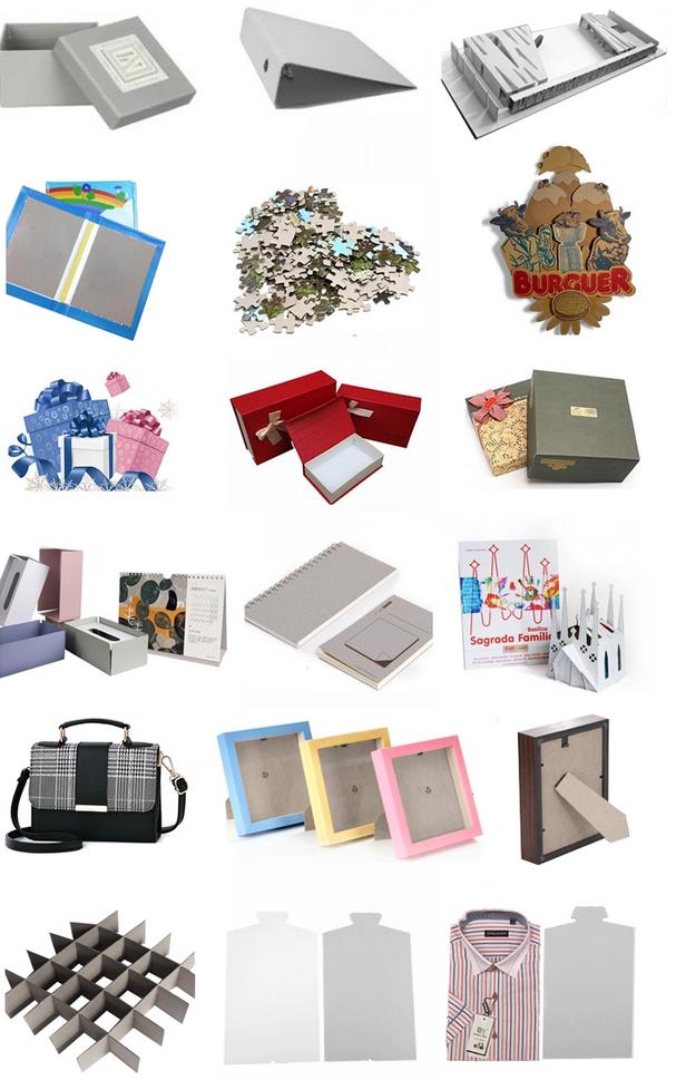 โครงสร้างของกระดาษจั่วปัง ที่ใช้ในงานประเภทต่างๆ