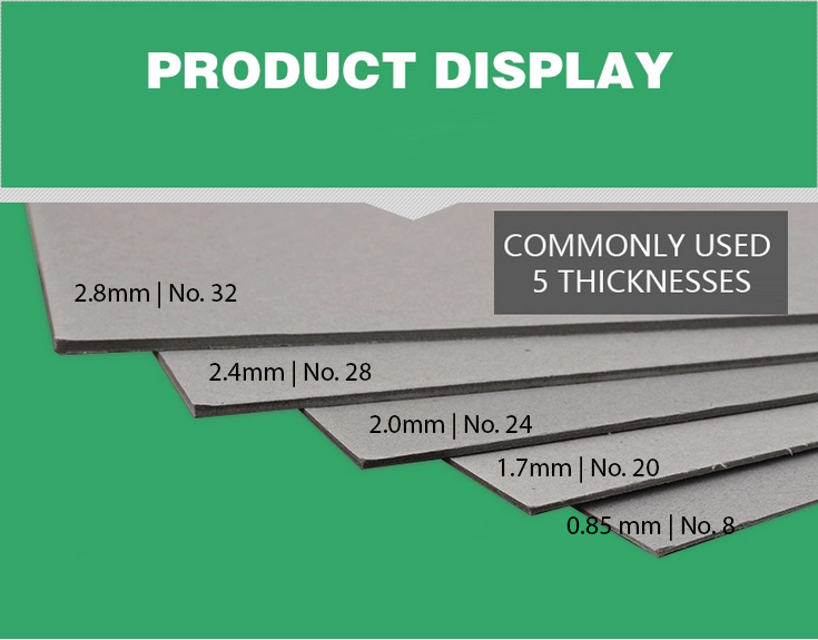 thickness of greyboards